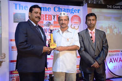 CMD of Salius Pharma Mr. A.K. PATRA received the award for
