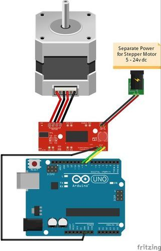 Stepper Motor drive from Arduino - HobbyTronics