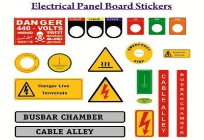 electrical panel board labels