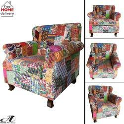 Genial Vintage Fabric Cotton Patch Work Kantha Sofa