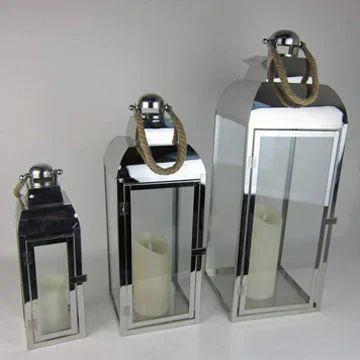 Metal Candle Lantern Stainless Steel Candle Lantern