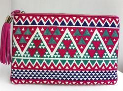 Multi Embroidered Clutch