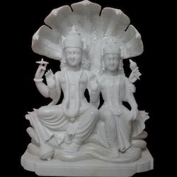 Vishnu And Laxmi Marble Statue