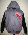 Light Oxford Hood Varsity Jacket