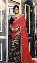 Printed Multicolour Saree