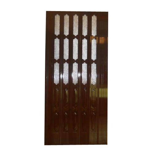 Standard PVC Dark Brown Folding Sliding Door, 12 Mm