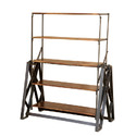 Iron Wooden Dining Cum Rack