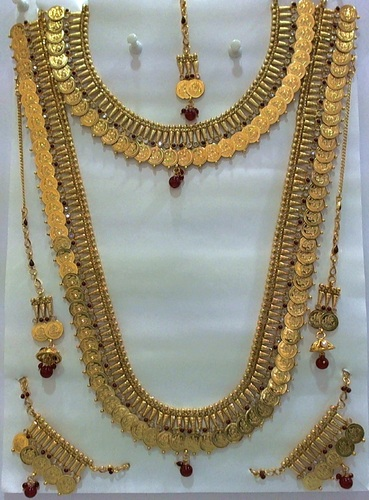 7f83d38b0b10e6 Bridal Coin Necklace Sets, Artificial And Metal Necklaces | Sri Jaya ...