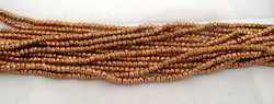 Copper Pyrite Rondelle Faceted Beads