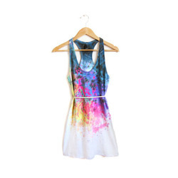 Hand Painted Dress Material