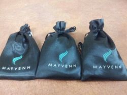 Textured Paper, Jute Printed Drawstring Bags For Jewelry Packaging