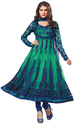 Ladies Fashion Green Velvet Salwar