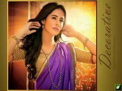 Purple Jacquard Satin Designer Saree