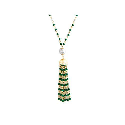 1 Pair of Blouse Lengha Latkans Diamonte Gold Bead Zircon  Decorative Tassels