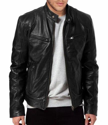 1b7e76bf9 Men Leather Bomber Style Jacket