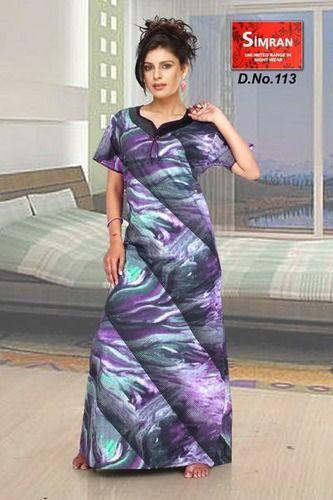 361315c1eb Ladies Cotton Printed Designer Night Gown, Rs 499 /piece   ID ...