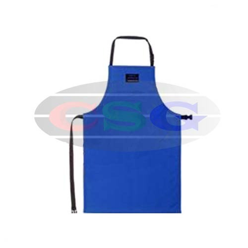 Blue Nylon And Microfiber Cryogenic Apron, Size: Free Size