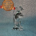 Glass Dolphin With Green Touch - Handmade Glass Sculpture