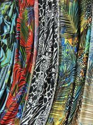 Printed Poly Spandex Dyed Fabric