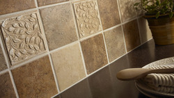 Tiles Ing Work In Surat Brown Met Finish Tile Service Provider From