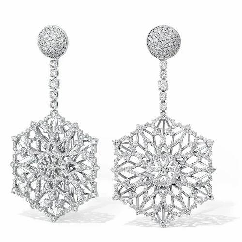 0fcca3b21 Long Diamond Earrings at Rs 300000 /piece(s) | Diamond Earrings ...