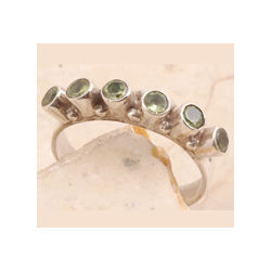 Peridot Ring in 925 Sterling Silver