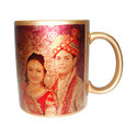 Personalized Sublimation Photo Golden Mugs, For Home