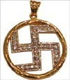 Swastik Pendent Studded with Diamonds