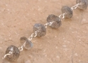 925 Sterling Silver Wire Beaded Chain