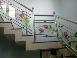 Stainless Steel Staircase Handrail Design In Kerala Photos Freezer