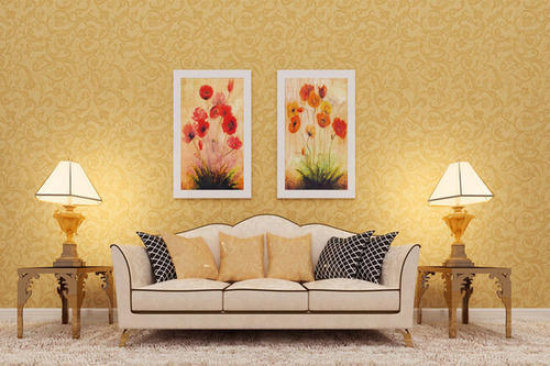 Designer Drawing Room Wallpaper at Rs 1500 roll Designer