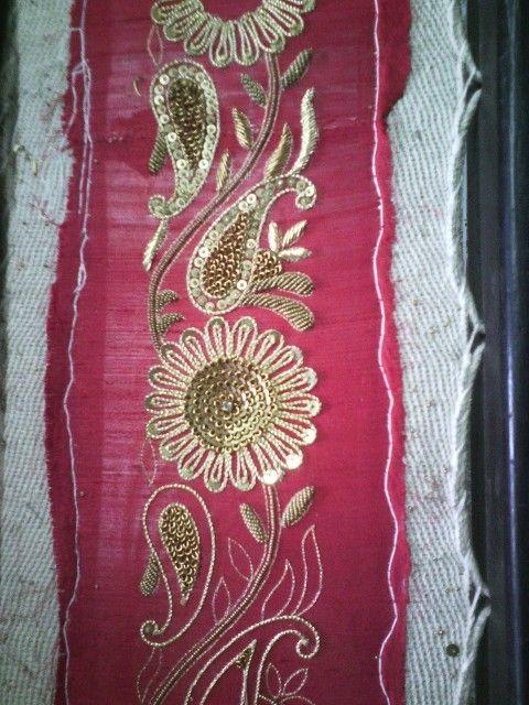 Hand Embroidery Zari Work Border In Byculla Mumbai Meher