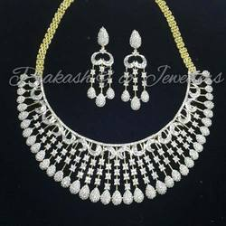 American Diamond Fancy Bridal Necklace