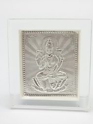999 Silver Plated Laxmi Stand