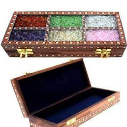 Rectangular Brown Wooden Jewelry Box, For Event, Size: 20x5 Cm