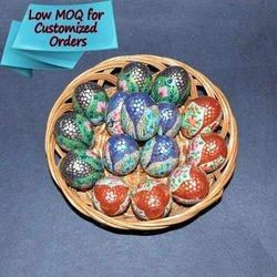 Wooden Or Paper Mache Egg Colorful Paper Mache Easter Eggs Custom Hand Painted
