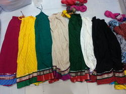 Plain Heavy Border Cotton Skirts
