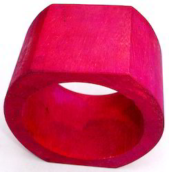 Pink Wooden Napkin Ring