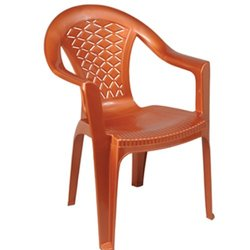 Plastic Back Chair with Arms