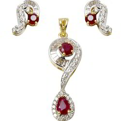2a2b9433216c43 Diamond Pendant Set at Best Price in India