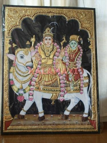 Shiva Tanjore Paintings Shiva Parvathi Tanjore Paintings