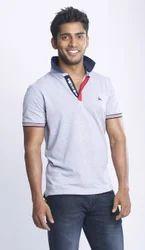 Grey Melange Medium, Mens Polo Shirt