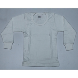 Kids White Thermal Inner Wear