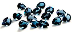 London Blue Topaz Faceted Pear Cut Gemstone