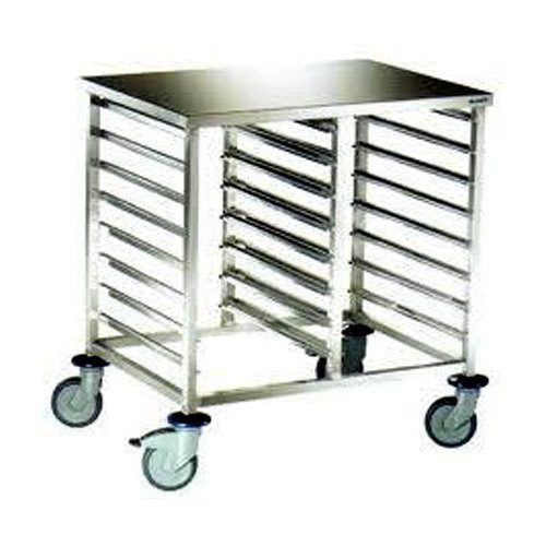 Satvin Ss Stainless Steel Trolley, for Industrial, Size: 3 - 5 Feet Length