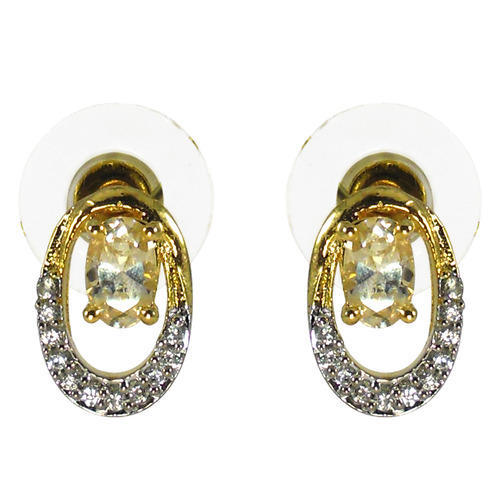 Gold Plated Ear Studs R S Jewels Exporter In Krashi Nagar