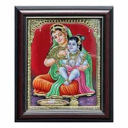 Yashodha Krishna Tanjore Painting