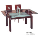 Glass Wooden Dining Table