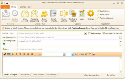 Bulk Email Sending Software - View Specifications & Details