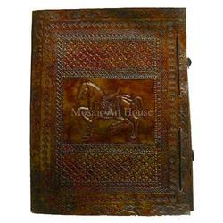 Horse Pattern Embossed Pure Leather File